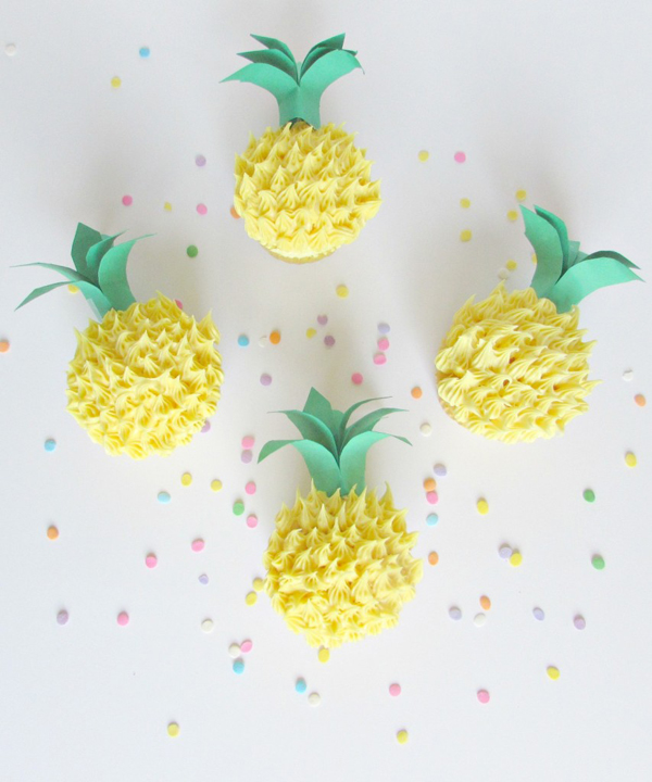 cupcakes-decoracion-pina-diy