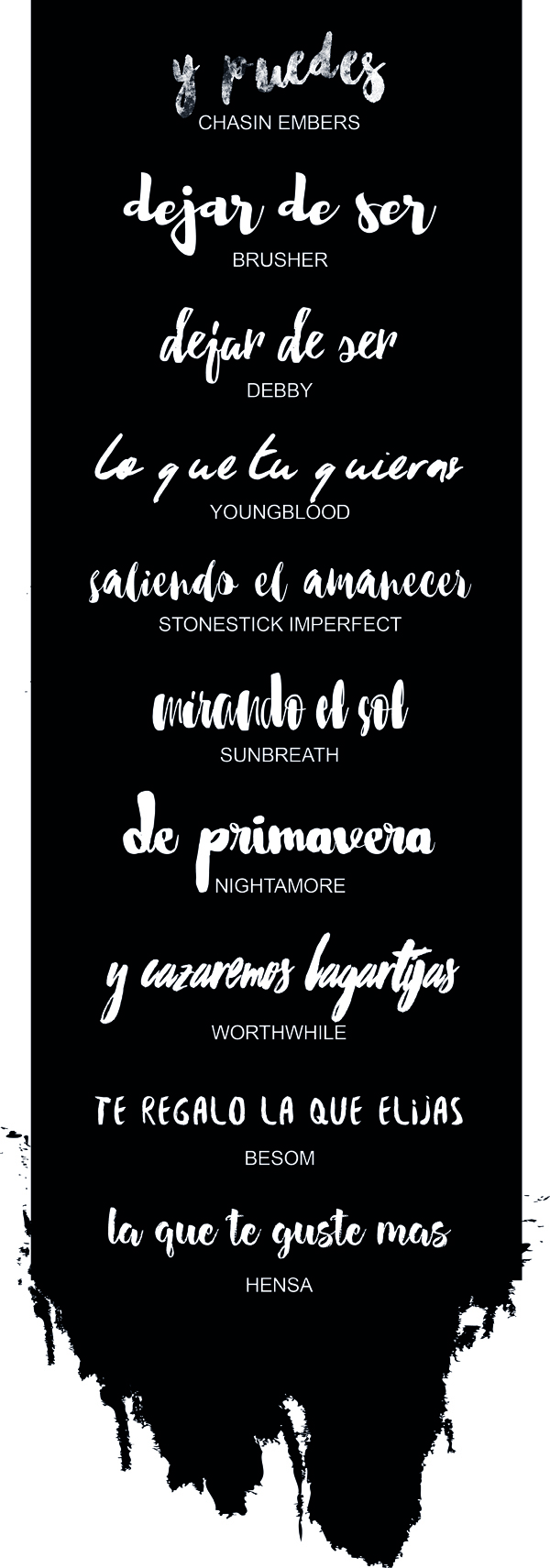 LETRAS BRUSH